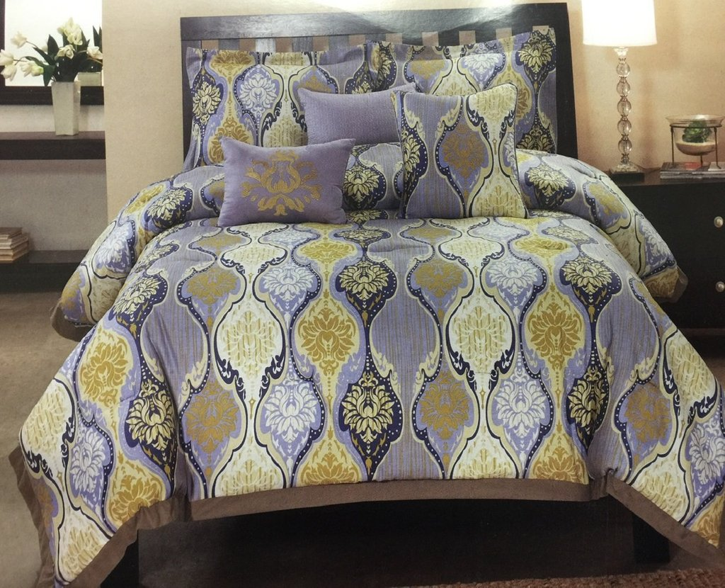 Image of: Total Fab Yellow Grey Comforter Set Bedding Beautiful Shades of Grey Bedding Sets