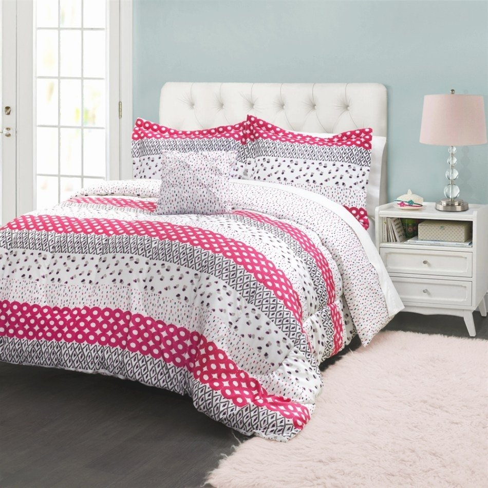 Image of: 29 Attractive Image Damask Stripe Comforter Comforter Awesome Ideas Teen Bed Sets