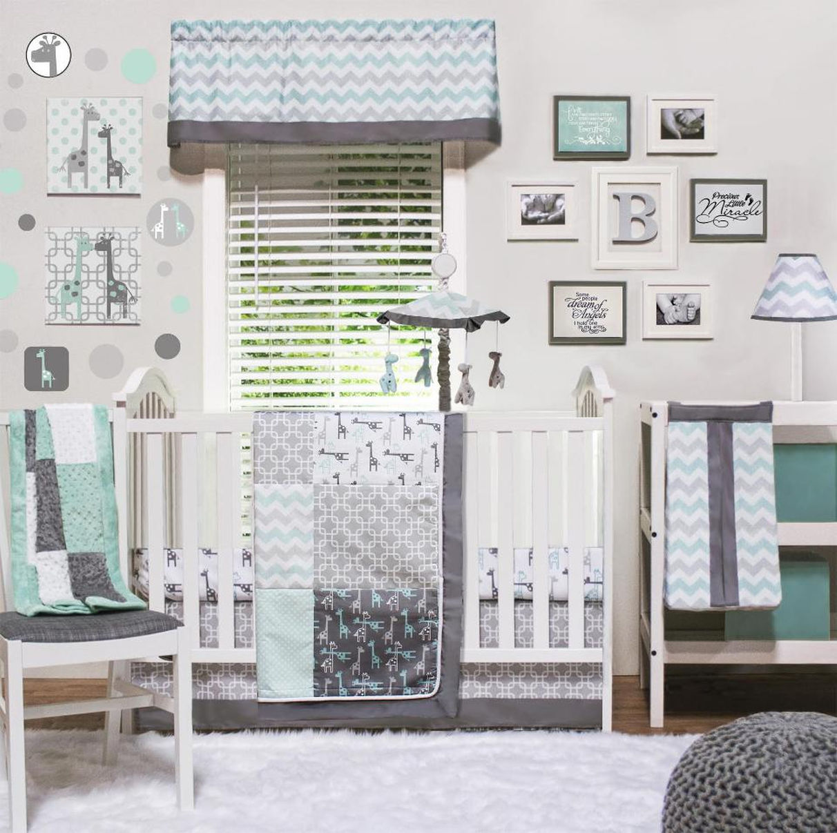 Image of: Affordable Gray Baby Bedding Sets