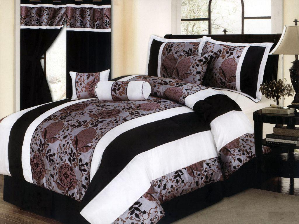 Image of: Black And White Comforter Set Queen