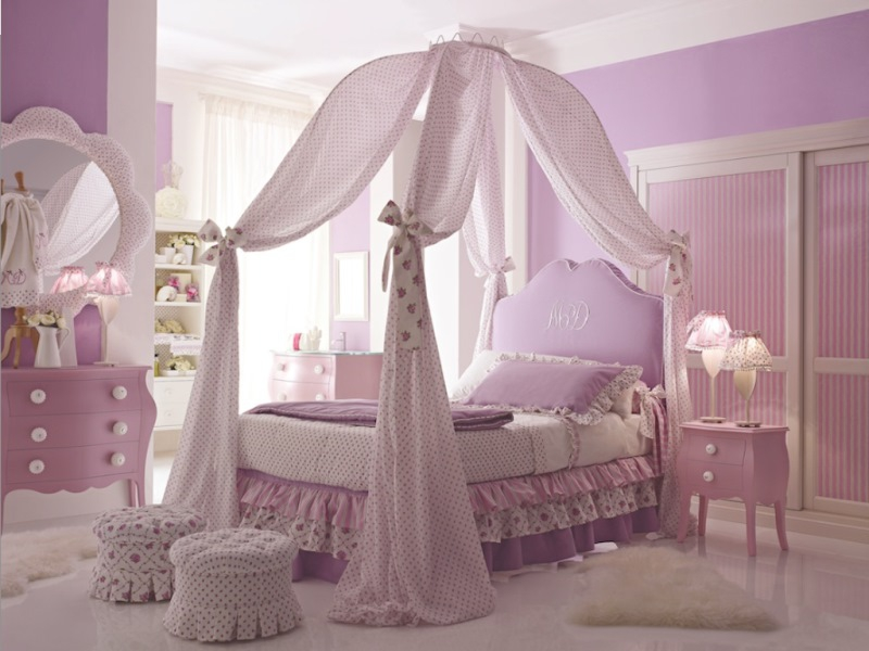 Image of: Children Princess Bedroom Furniture Sets