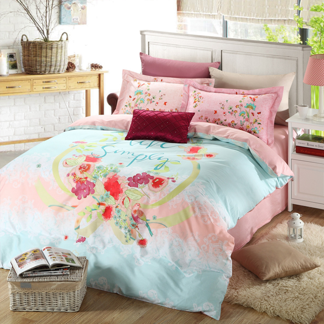 Image of: Floral Twin Comforter Set