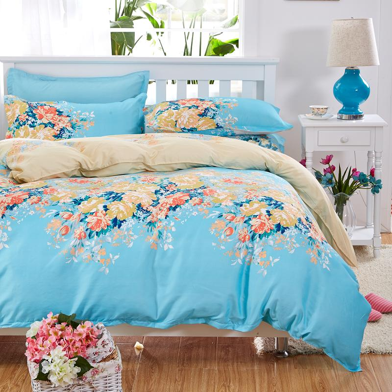 Image of: Floral Watercolor Duvet Cover
