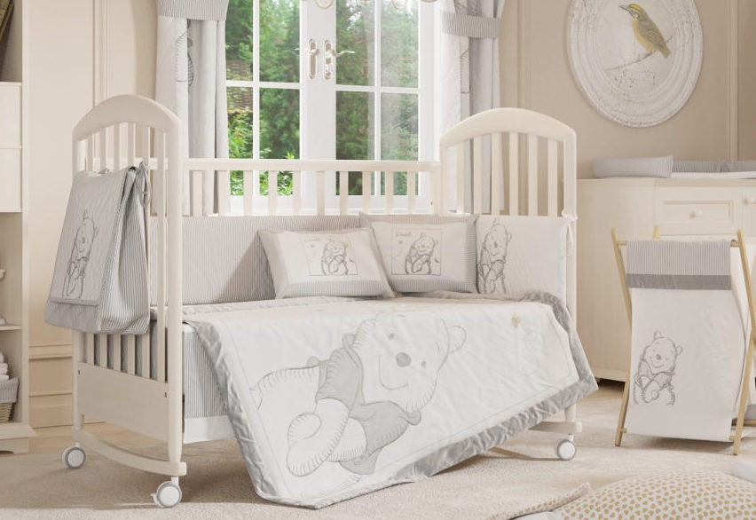 Image of: Gray Crib Bedding Sets Clearance