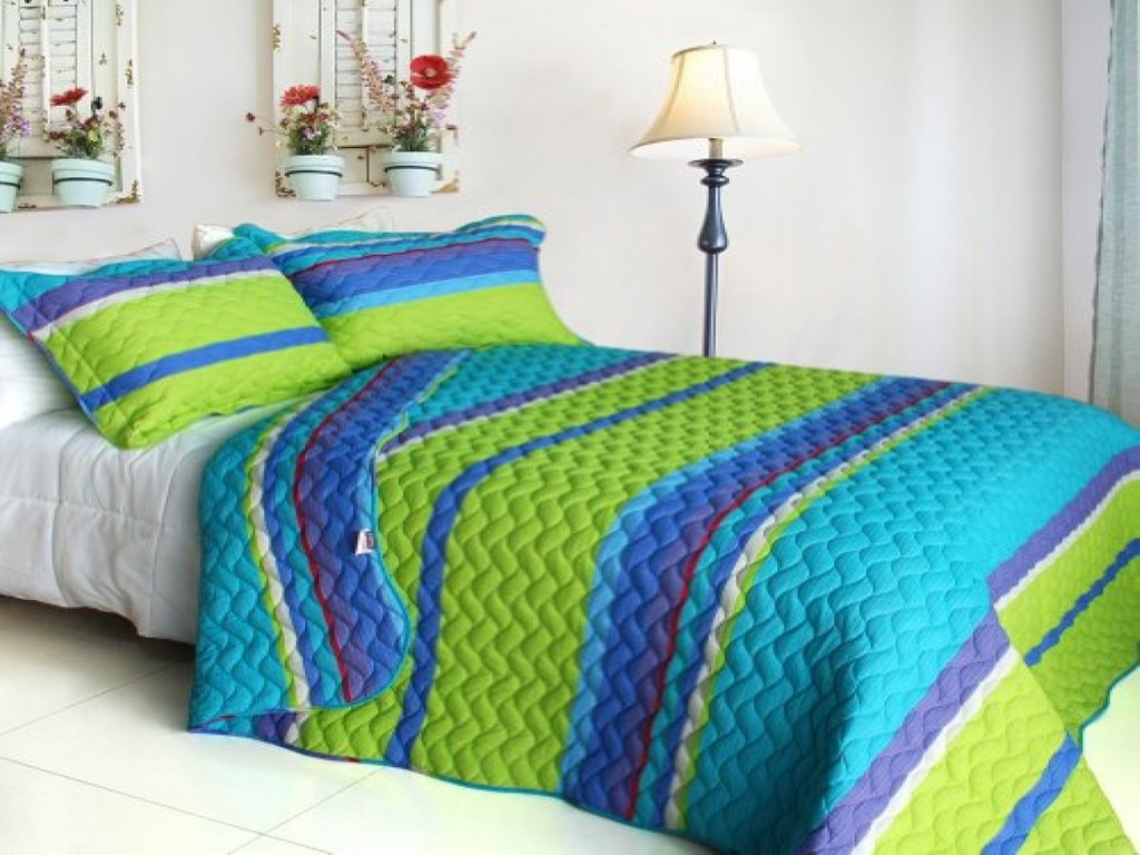 Image of: Lime Green Blue Bedroom Blue Lime Green Bedding Awesome Ideas Teen Bed Sets