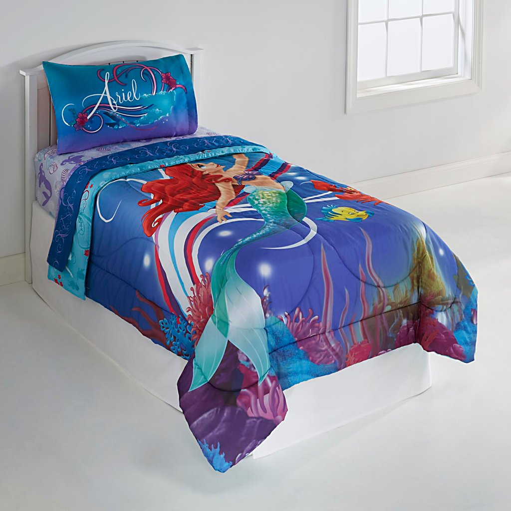 Image of: Mermaid Bedding Totally Kids Totally Bedroom Pretty Floral Bed Set Theme