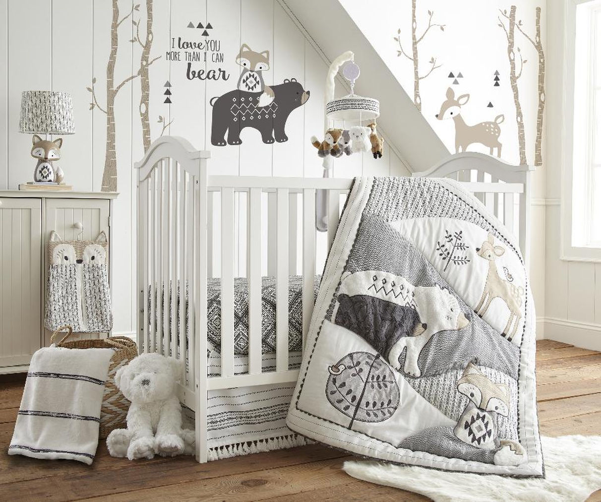 Image of: Modern Gray Baby Bedding Sets
