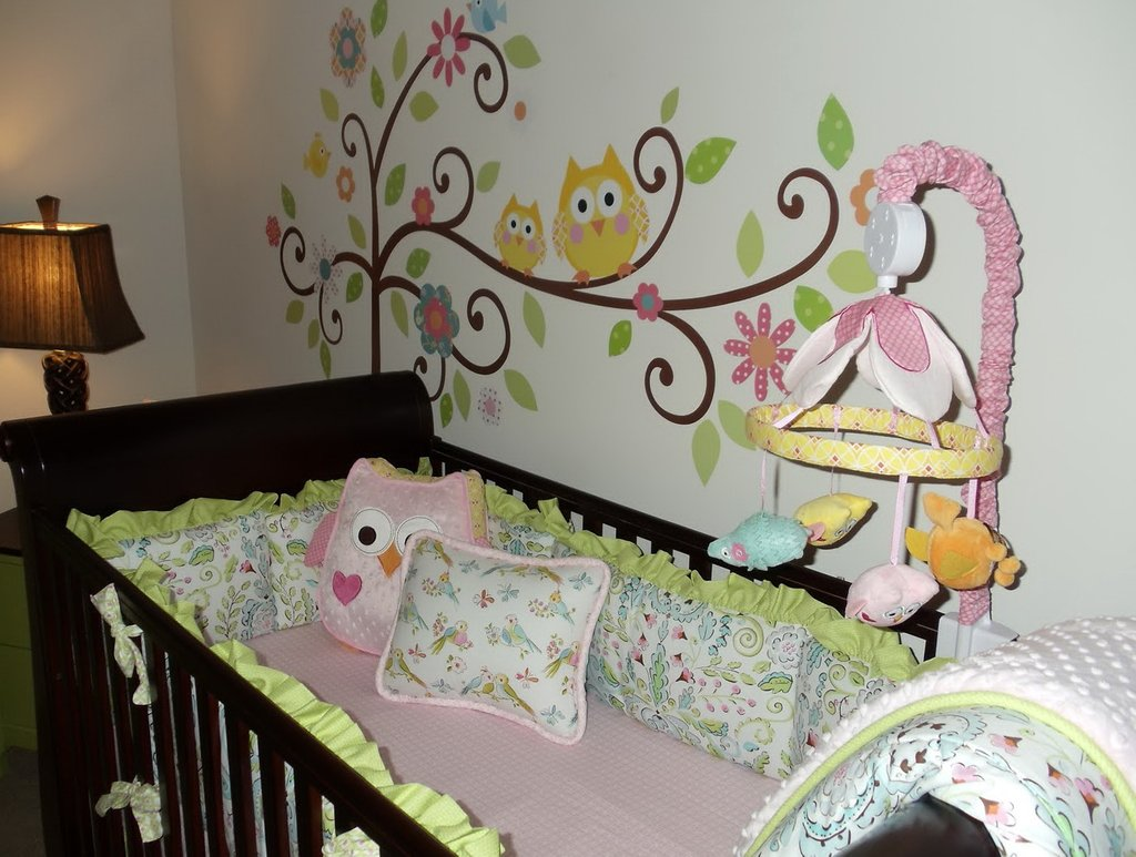 Image of: Owl Nursery Bedding Baby Home Design Idea Modern Baby Bedding Style