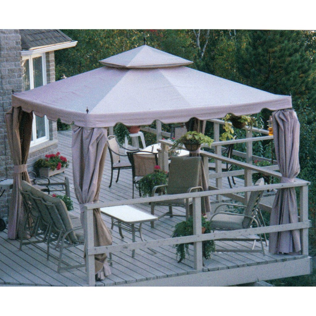 Image of: Patio Gazebo Costco Home Casual 10 10 Scalloped Gazebo Costco Item Model Number 523379 Gray Baby Bedding Set Appeal To You