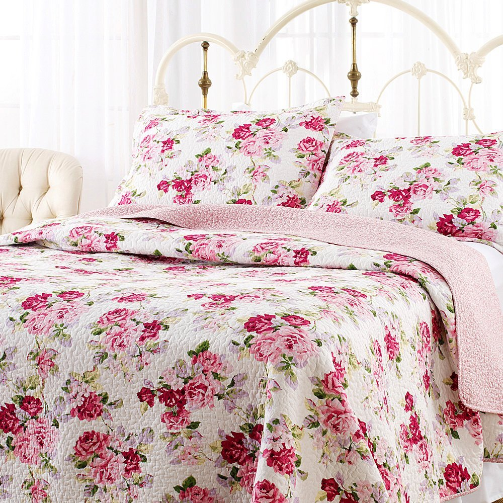 Image of: Shabby Chic Bedding Pink