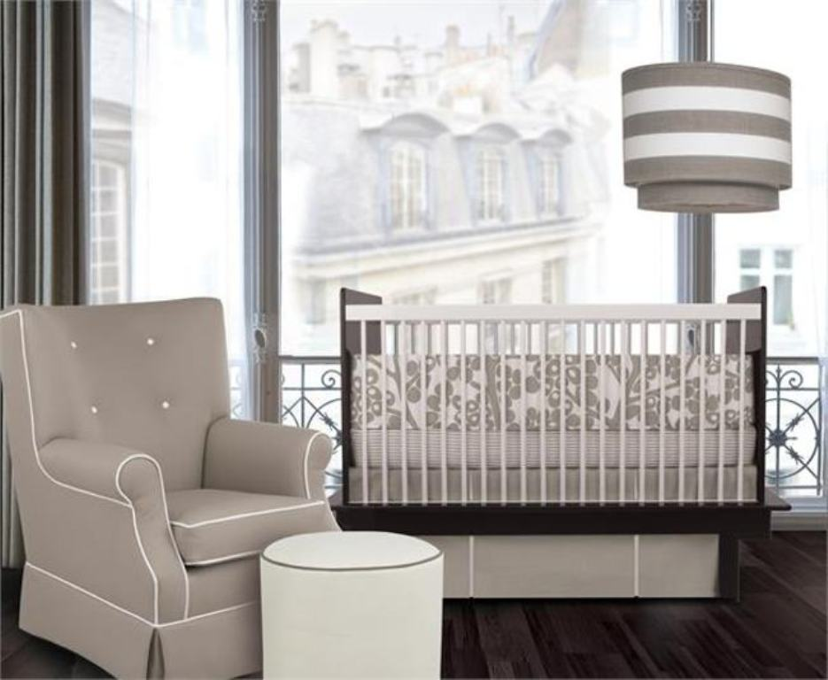 Image of: Simple Modern Baby Bedding