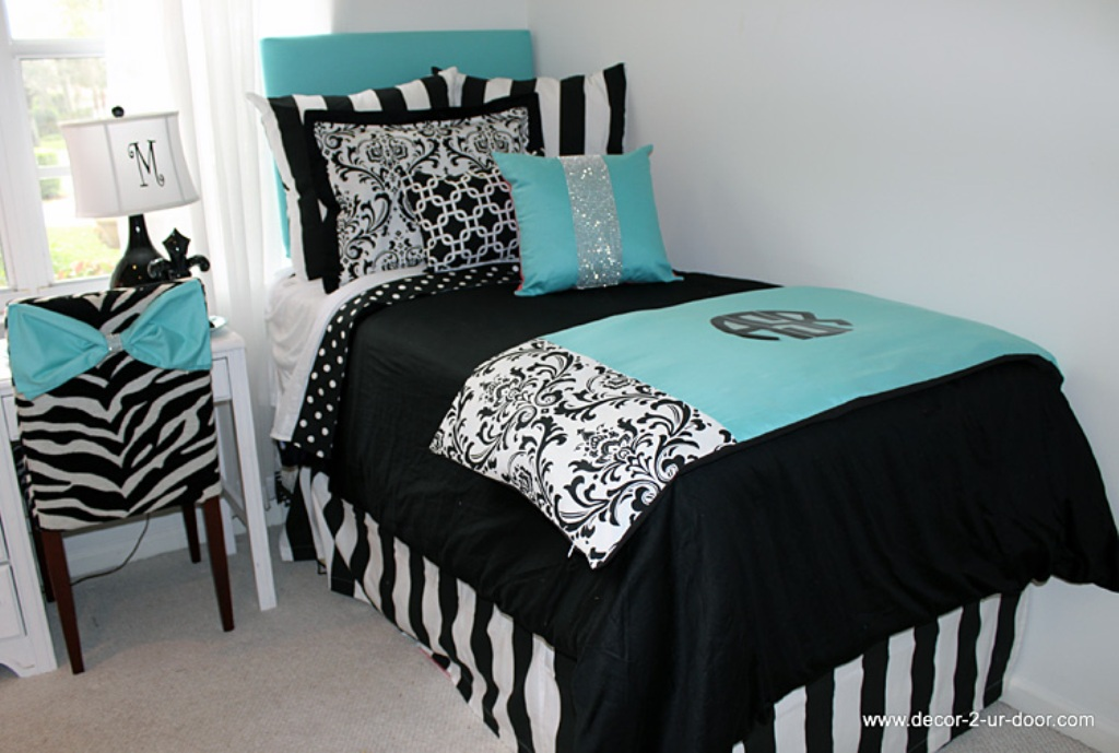 Image of: Tiffany Blue Bedding For Teens
