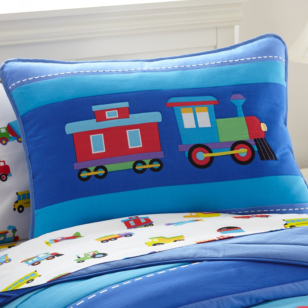 Image of: Train Airplane Fire Truck Toddler Boy Bedding 4pc Bed Awesome Ideas Teen Bed Sets