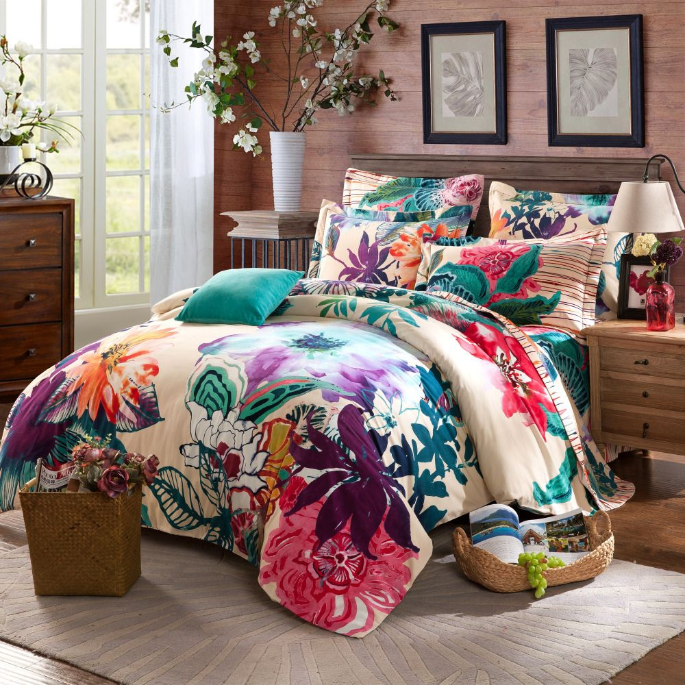 Image of: Watercolor Bedding