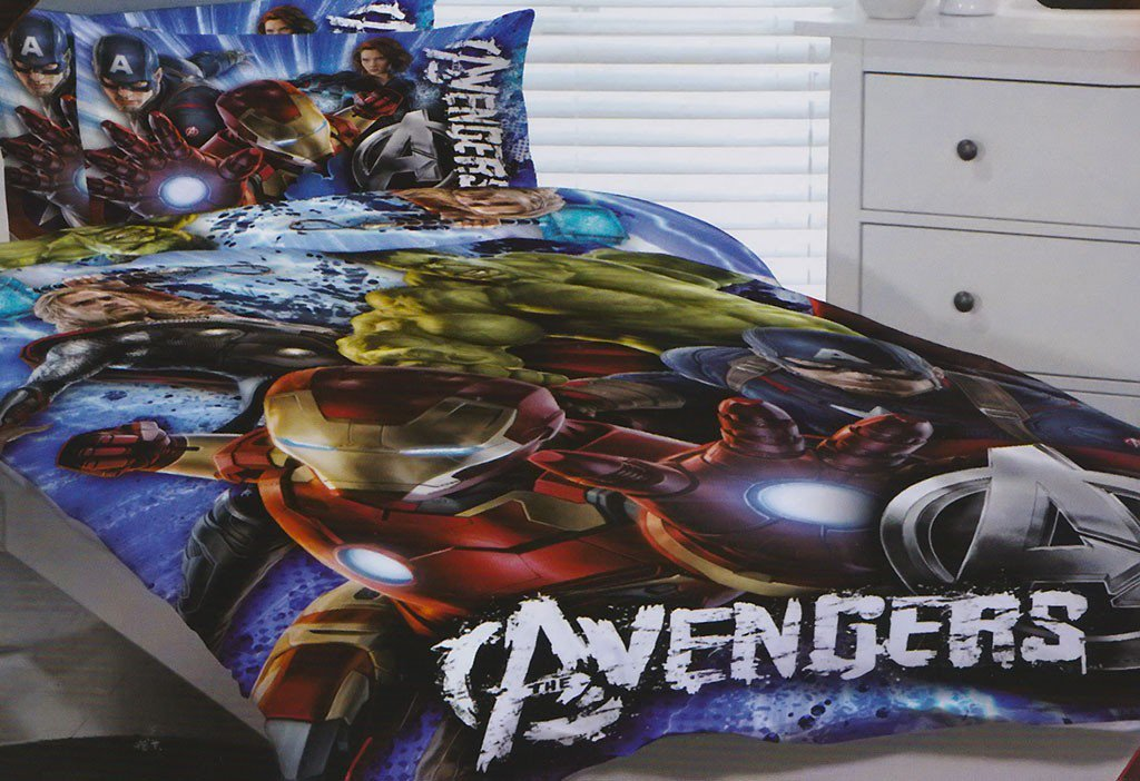 Image of: Avengers Bed Set