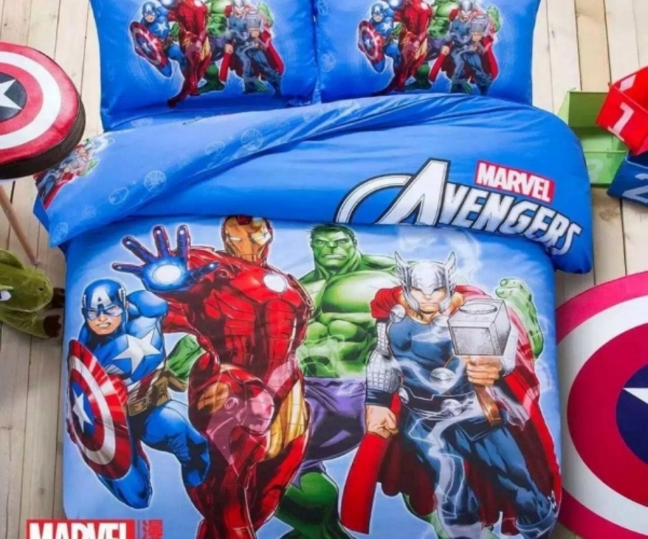 Image of: Avengers Bedding Queen Size
