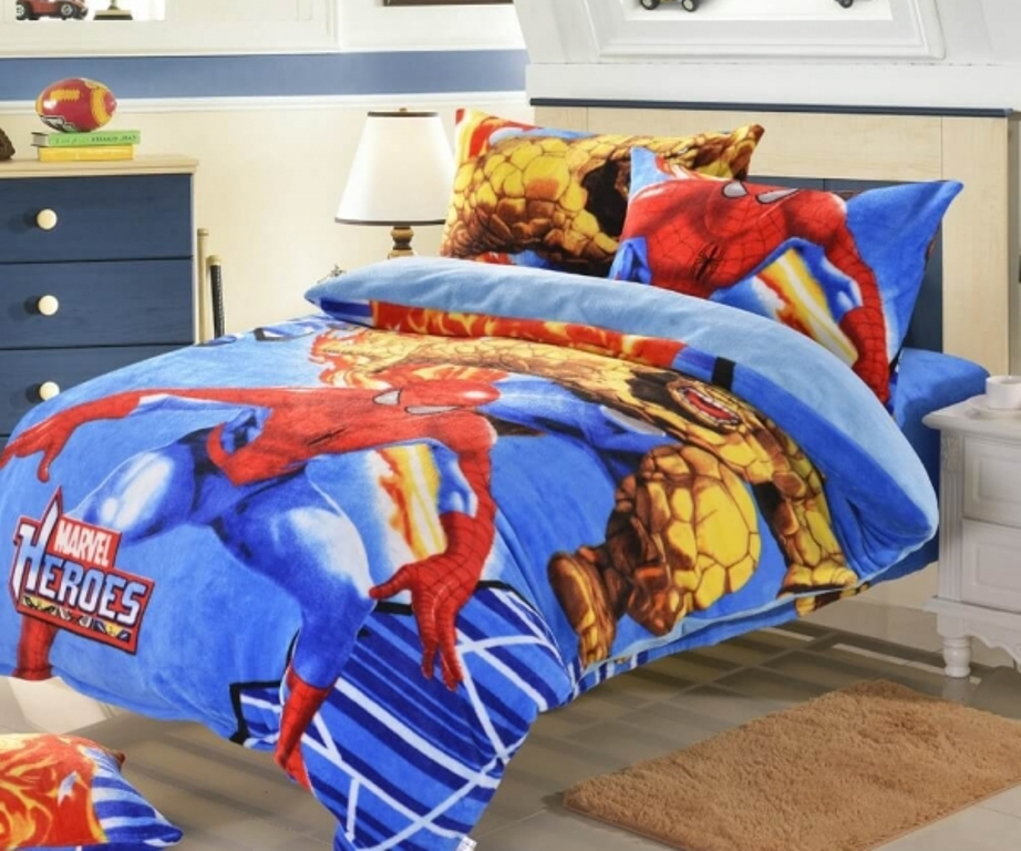 Image of: Avengers Twin Bed Set