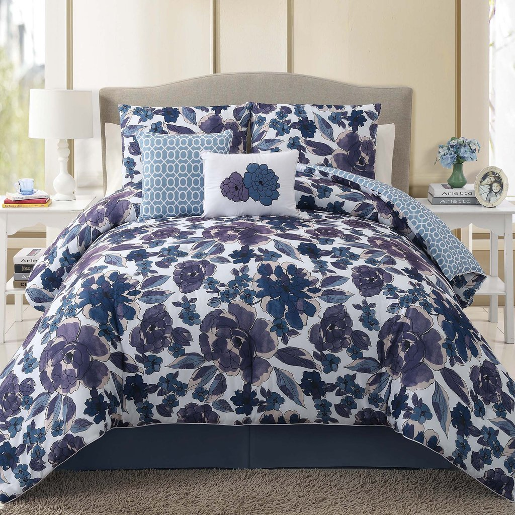 Image of: Beautful Sophisticated Floral Bedding Set Pink Bedding Sets Queen Ideas