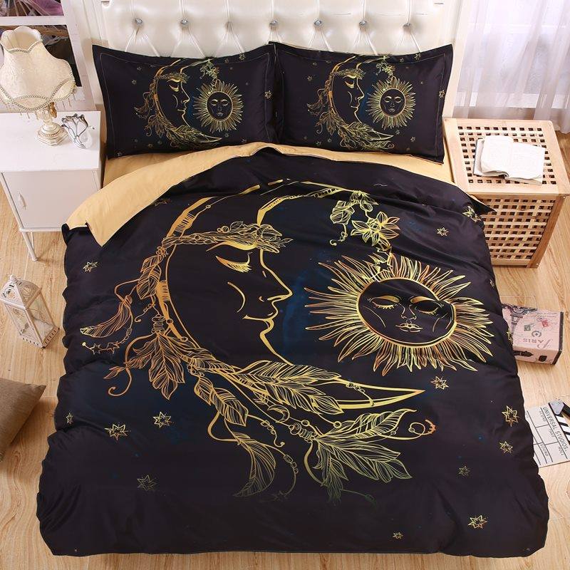 Image of: Celestial Sun And Moon Bedding Designs