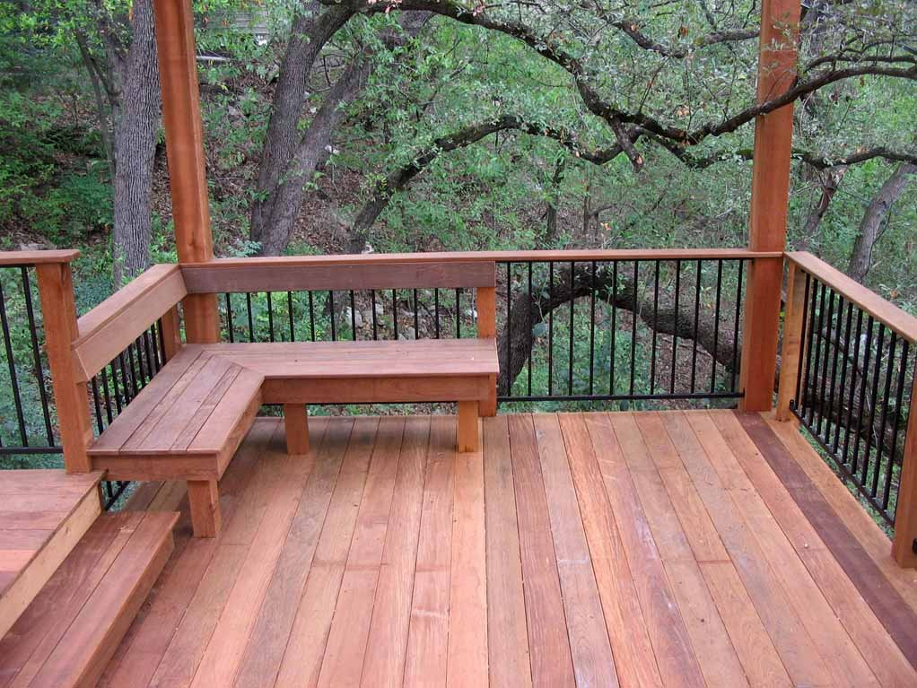 Image of: Deck Railing Bench Deck Railing Wire Cable Cost Deck Luxury Sun And Moon Bed Set