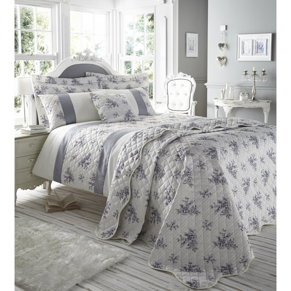 Image of: Floral Urn Toile French Country Queen Quilt Set Burgundy Red Ecru Cotton Toile Bedding Pilemont Pink Bedding Sets Queen Ideas