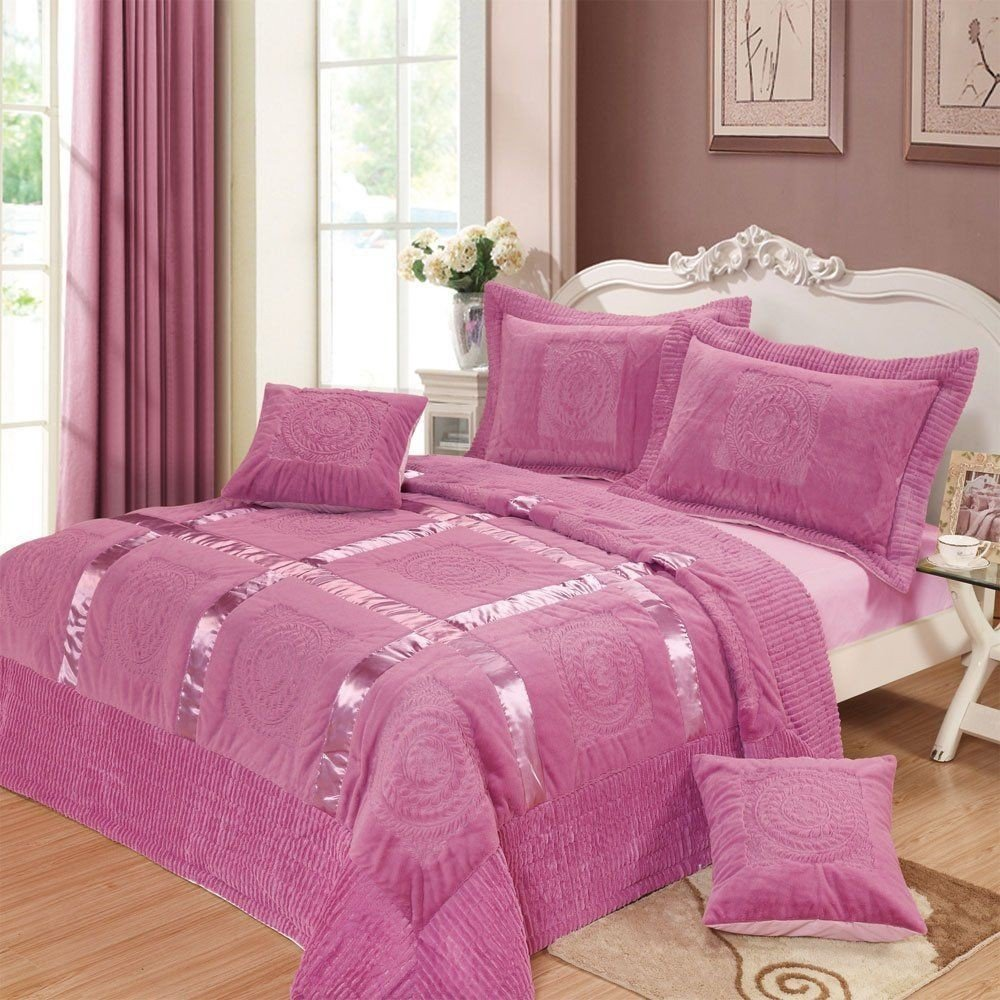 Image of: Hot Pink Bedding Queen Decorate House Pink Bedding Sets Queen Ideas