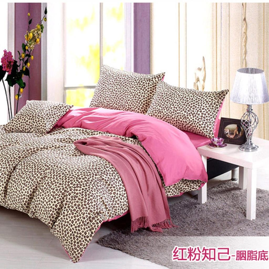 Image of: Pink Leopard Sheet Promotion Online Shopping Pink Bedding Sets Queen Ideas