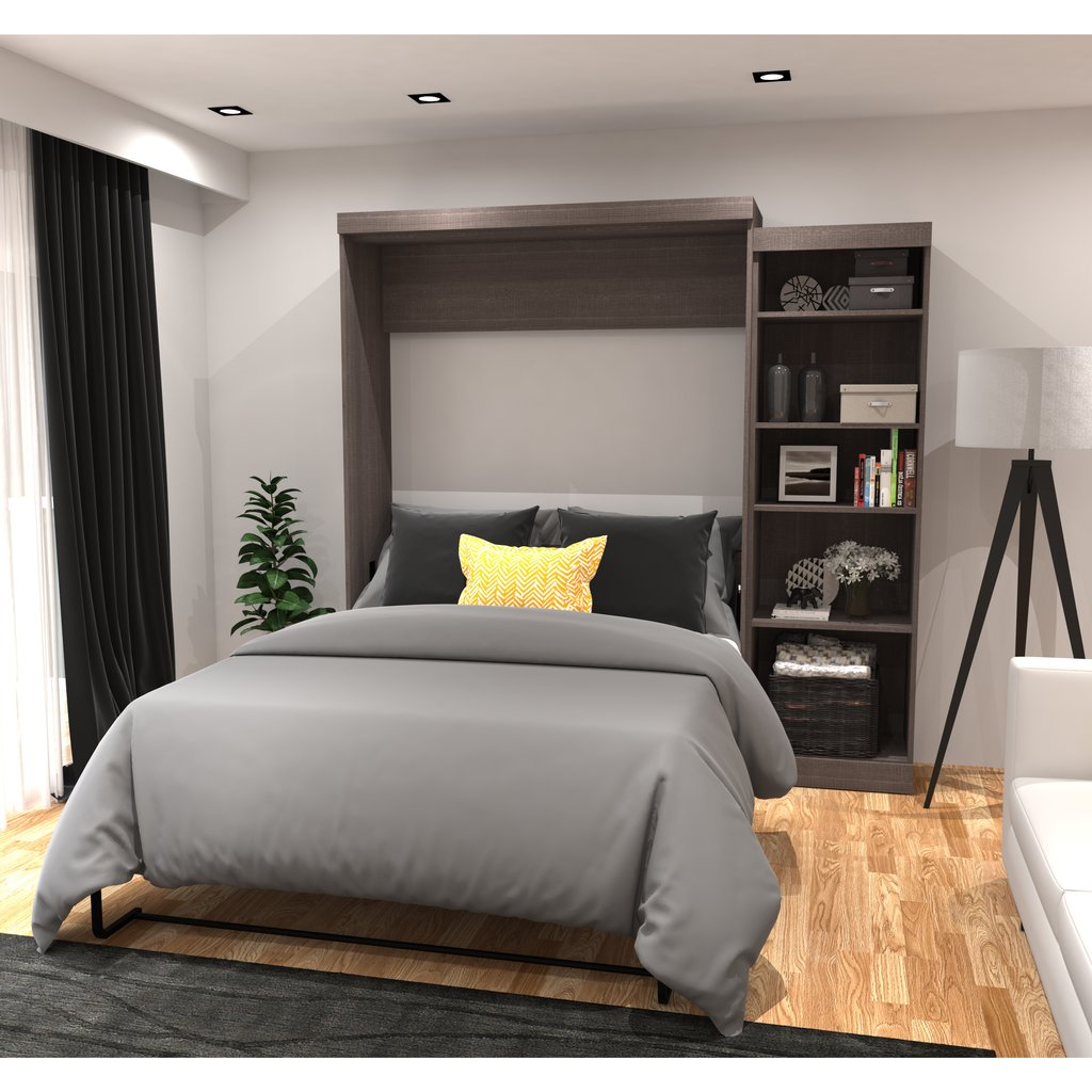 Image of: Queen Murphy Bed 28 Image Murphy Wall Bed Desk Decor Purple and Grey Crib Bedding Sets