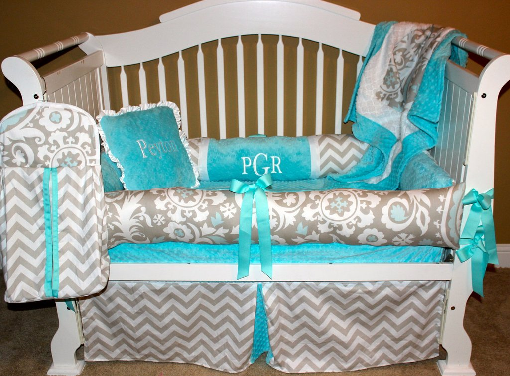 Image of: Tiffany Blue Crib Blanket Pink Bedding Sets Queen Ideas