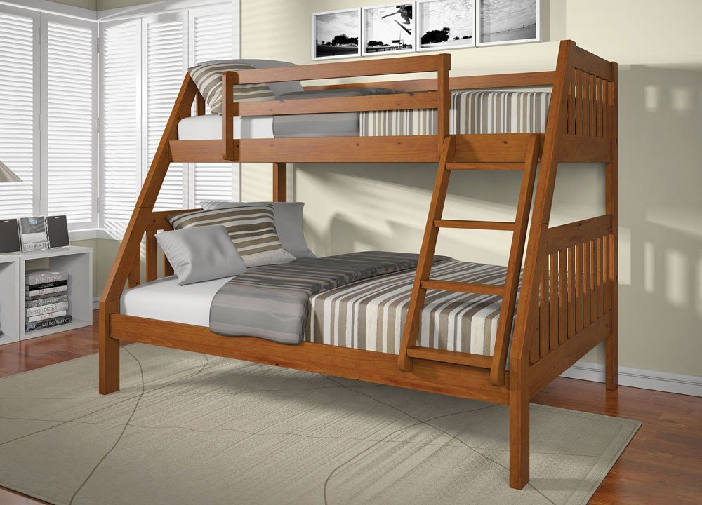 Image of: Wood Bunk Bed Twin Full 28 Image Ginger Twin Decor Purple and Grey Crib Bedding Sets