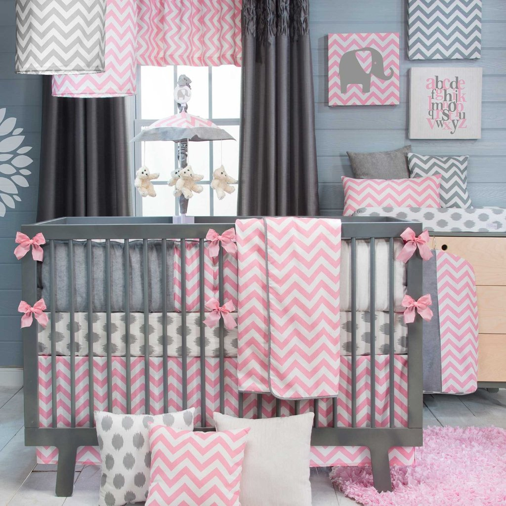21 Inspiring Idea Creating Unique Crib Custom The New Angle On Chevron Crib Bedding Just Released