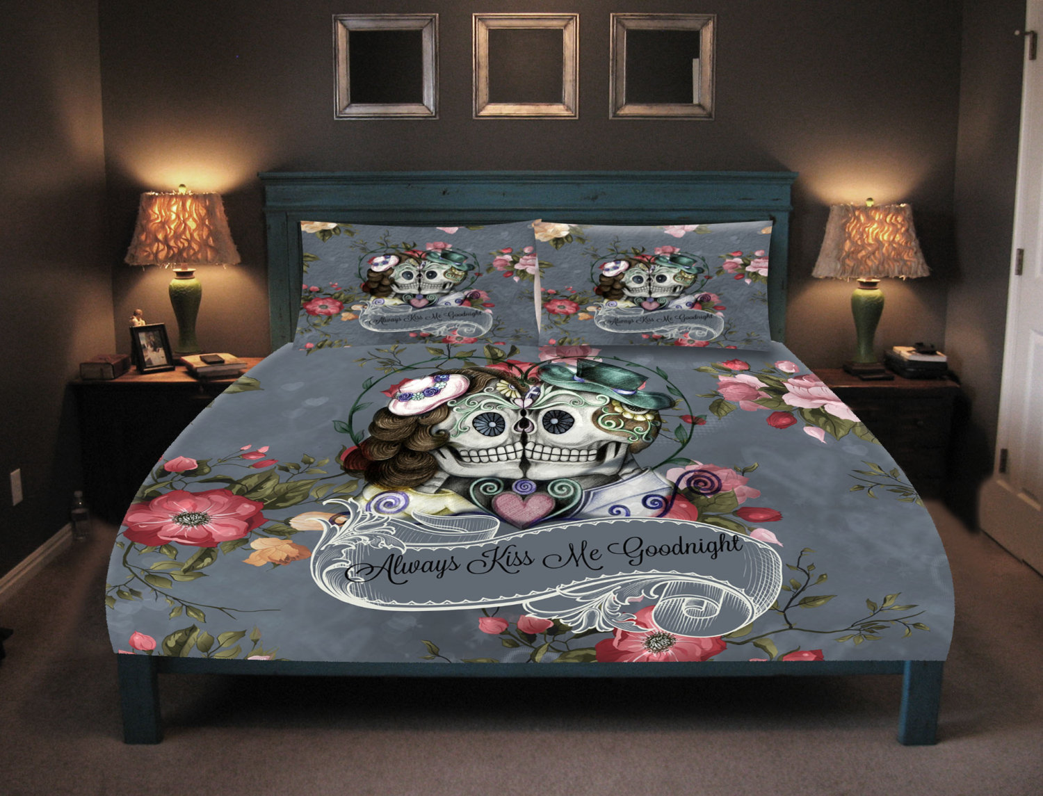 Image of: 3d Skull Bedding Designs