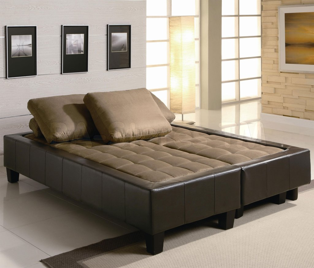 Image of: 584 25 Fulton Contemporary Sofa Bed Group 2 Ottoman Sofa Bed Set Decor