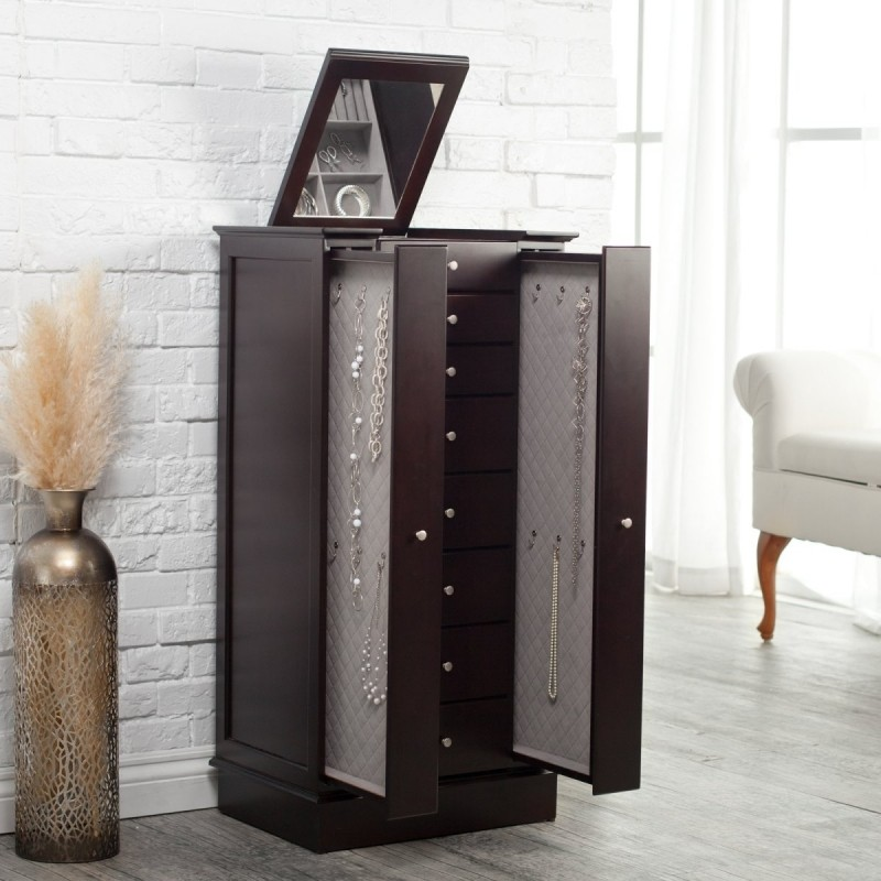 Beautiful Modern Jewelry Armoire