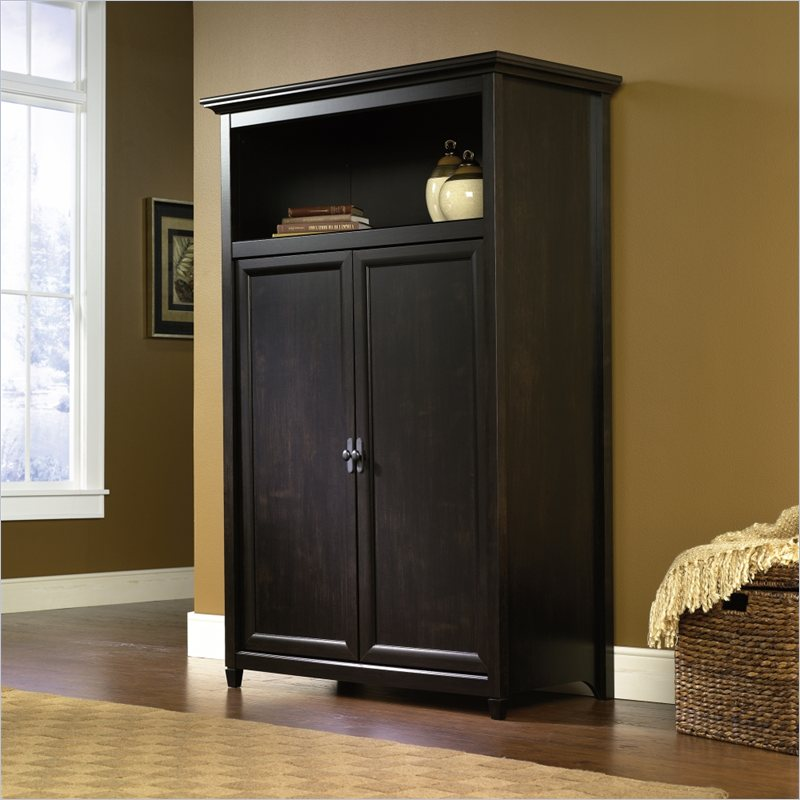 Image of: Black Computer Armoire