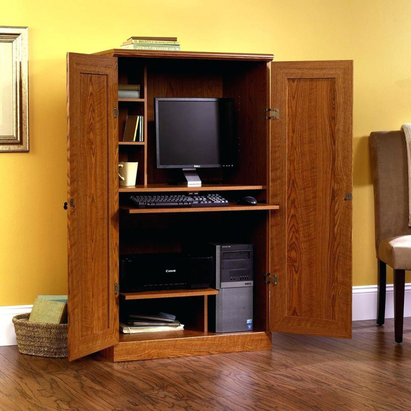 Children's Armoire And Desk