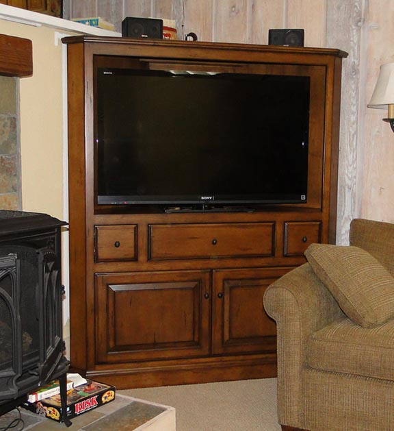 Corner TV Armoire Drawer