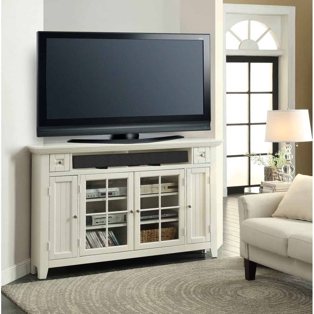 Corner TV Armoire Glass