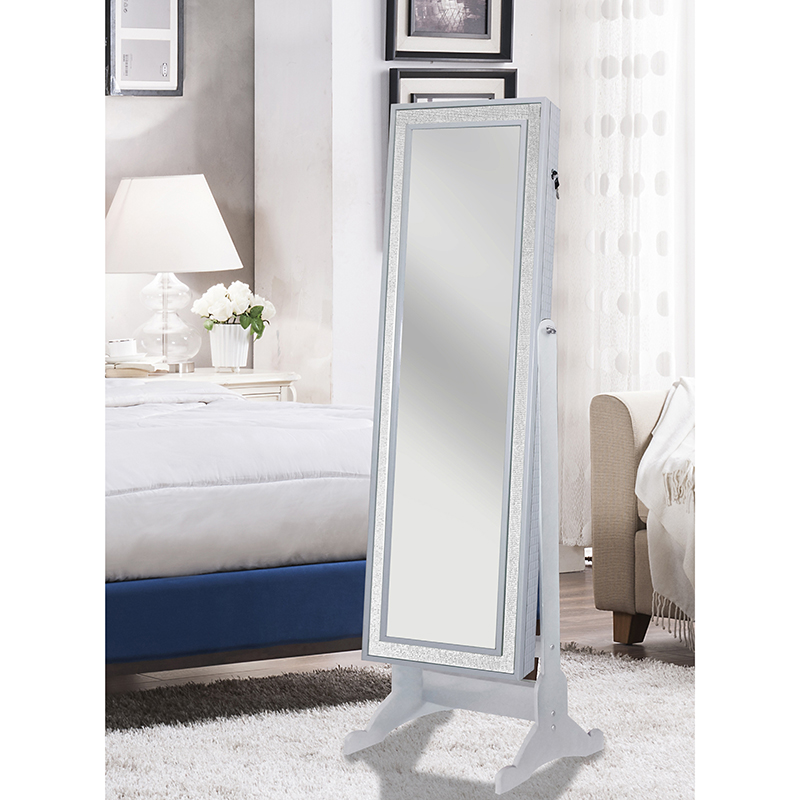 Image of: Glass Modern Jewelry Armoire