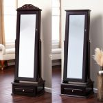 Image Standing Mirror Jewelry Armoire