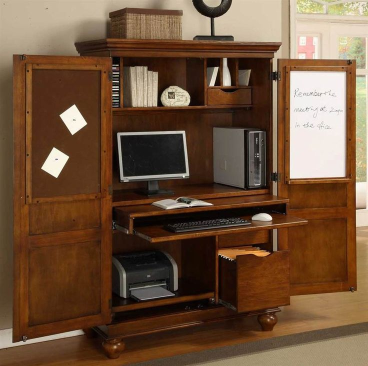 Image of: Large Computer Armoire