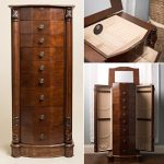 Large Locking Jewelry Armoire