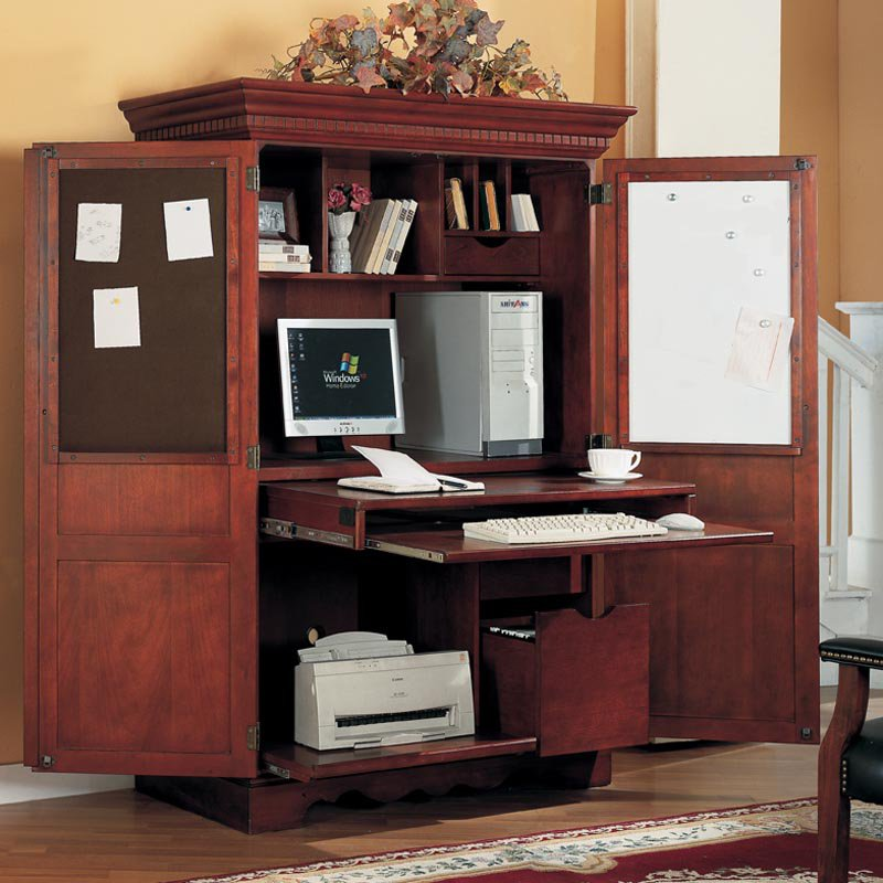 Image of: Master Computer Armoire