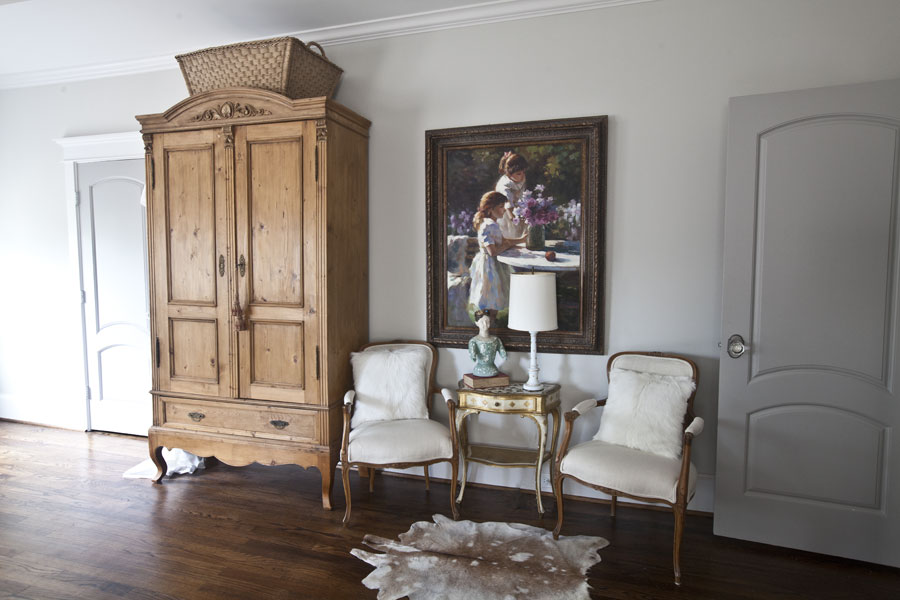 Pine Armoire And Chairs