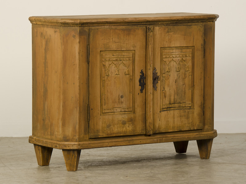 Rustic Armoire with Drawers and Shelves