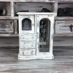 Shabby Chic Rustic Jewelry Armoire