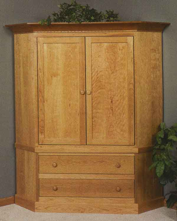 Simple Corner TV Armoire