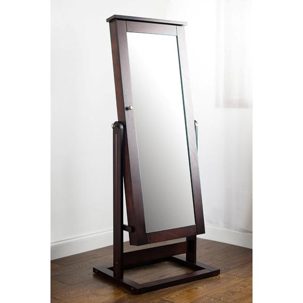 Simple Full Length Mirror Jewelry Armoire