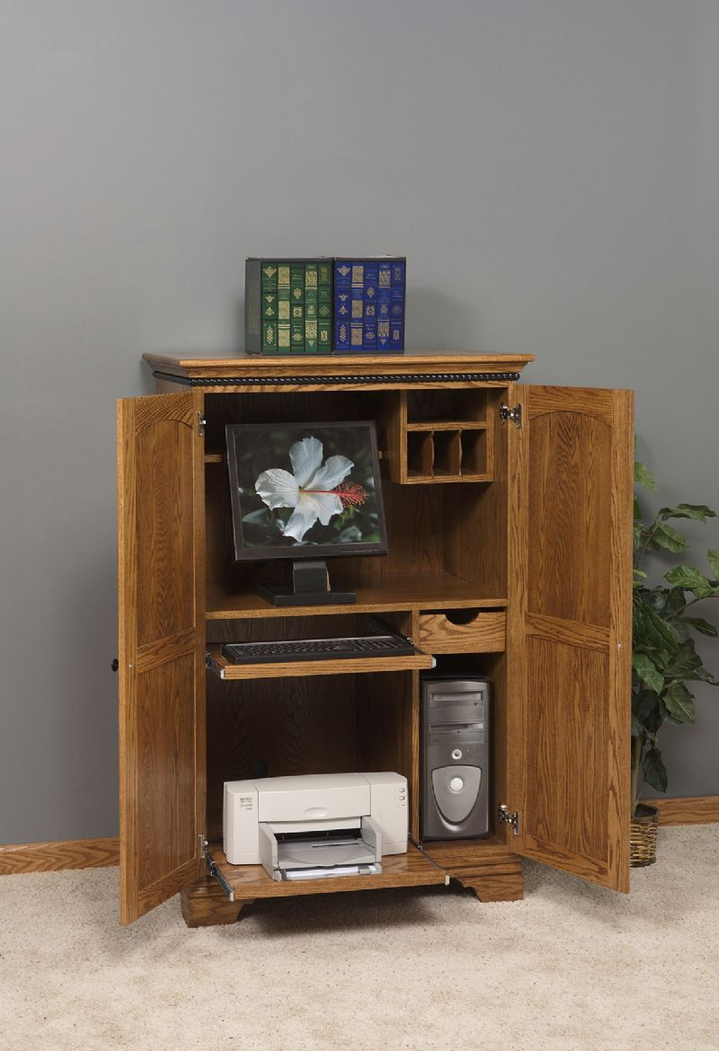 Image of: Small Computer Armoire