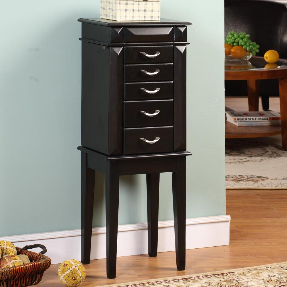 Image of: Small Modern Jewelry Armoire
